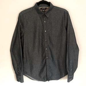 Structure Slim Fit Button Down Top